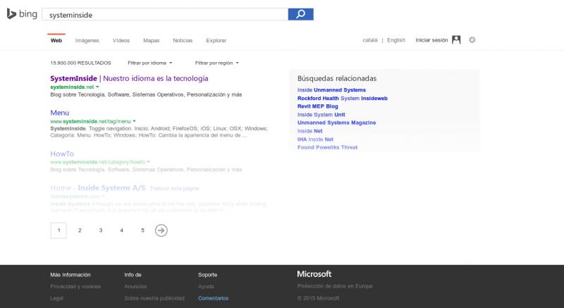 Bing SystemInside