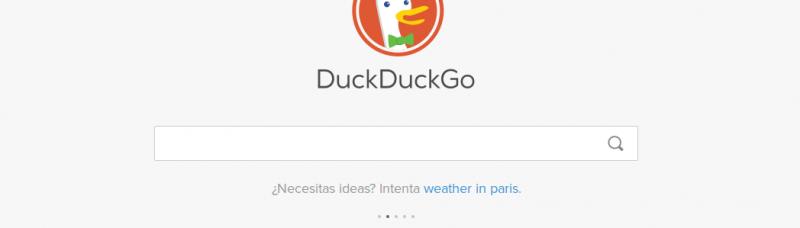 DuckDuckGo Inicio