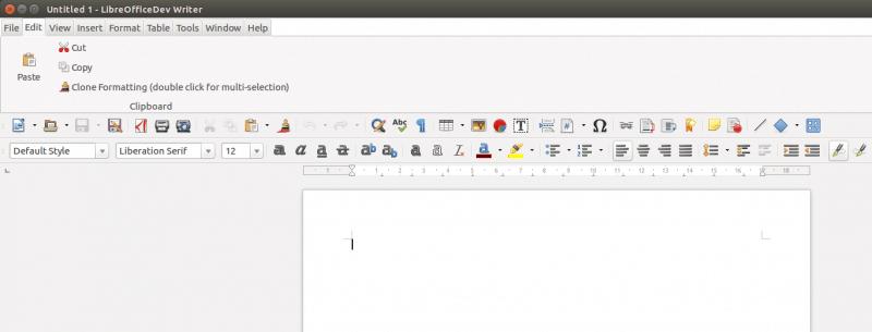 Notebookbar LibreOffice