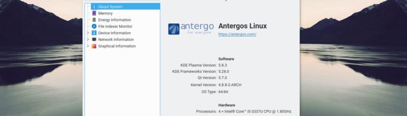 Antergos KDE