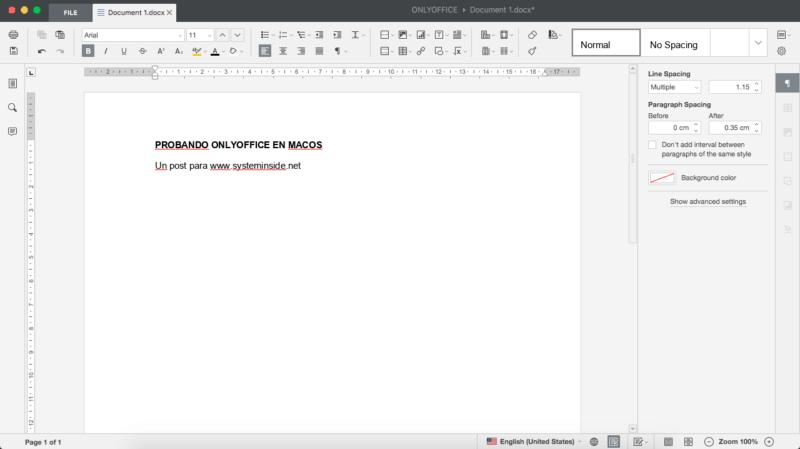 OnlyOffice en macOS