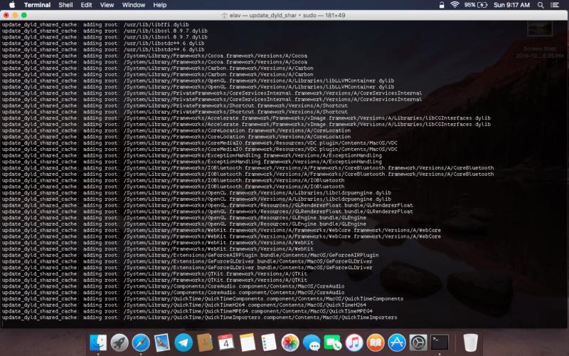 Cache OSX
